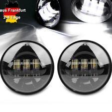 175mm 40W Motorrad Birne Scheinwerfer LED Angel Eyes Licht für Bobber Chopper 1x