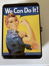 "Vintage metal Rosie The Riveter lunchbox ""We Can Do It!"" bicep, Women in the War"