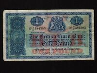 Scotland:P-157d,1 Pound,1953 * The British Linen Bank * F-VF *