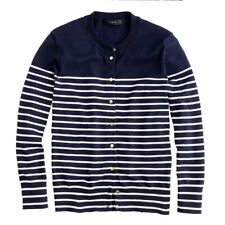 J.Crew Jackie Cardigan-stripe w/ anchor buttons Large