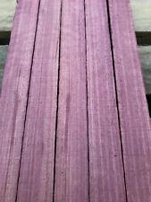 Purpleheart amaranth small turning blank / flute whistle blank 150-320 x 30mm SQ