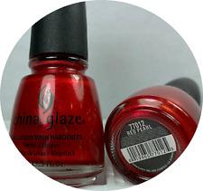 China Glaze Nail Polish * Pearl Red * 712 #77012 * BRAND NEW Nail Lacquers 0.5oz