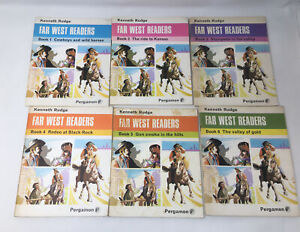 Vintage Set of 6 Far West Readers by Kenneth Rudge Books 1 to 6 PB
