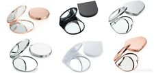 Small Compact Mirror 6cm Rose Gold, Silver, Black, White Pocket Handbag Makeup