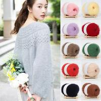 18 Colors DIY Mohair Cashmere Crochet Thread Soft Knitting Wool Yarn Sweater 25g