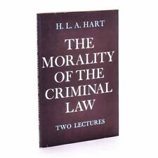 The Morality of the Criminal Law, Two lectures., H.L.A. Hart 1965 1st Near Fine