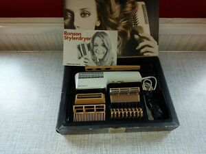 Ronson Vintage retro  Hair Dryer Styler RSD8 700 W all original box and packing