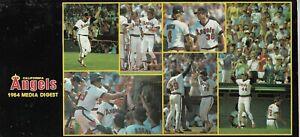 1984 CALIFORNIA ANGELS MLB MEDIA GUIDE VINTAGE FREE SHIPPING