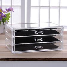 3 Layer Large Acrylic Storage Drawers Makeup Organizer Jewelry Box