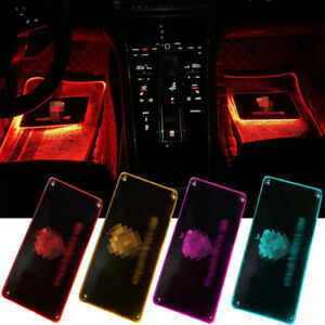 Led Car Floor Mats w/Atmosphere Lamp Decoration Light Colorful Foot Pedal Light