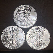 Lot of 3 - 2019 1 oz Silver American Eagle $1 Coin BU
