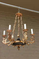 Gorgeous French Bronze tole empire Dragon gothic castle Chandelier hang lamp