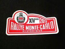 autocollant sticker adesivo 14 eme RALLYE MONTE CARLO HISTORIQUE 2011