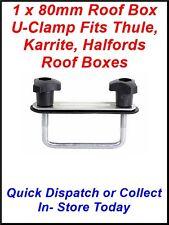 1 COMPLETE 90MM ROOF BOX U-CLAMP FITS THULE KARRITE ODYSSEY HALFORDS & EXODUS