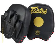 FAIRTEX FMV14  FOCUS MITTS SHORT BLACK GOLD MUAY THAI BOXING MMA K1