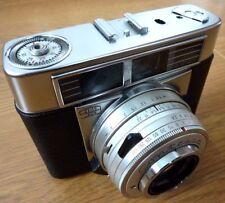 Zeiss Ikon Contessa Vintage Film Camera 2.8/50 mm Lens & Leather Case