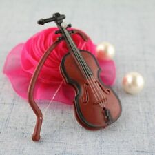 Mini Violin Miniature Wooden Musical Instruments Collection Crafts Home Decor