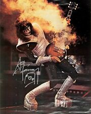 KISS - ACE FREHLEY AUTHENTIC HAND SIGNED SMOKING GUITAR ROCK GLOSSY 8x10 PHOTO