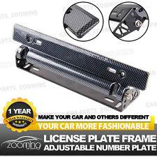 Universal Racing Carbon Fiber Adjustable Number Car License Plate Frame Holder