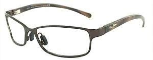 MAUI JIM SHORELINE MJ-114-25 Italy Dark Brown Polish Sunglasses Frame 57-16-125