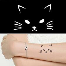 Indian Henna Tattoo Stencil Cute Cat Design Health Body Art Paint Mehndi Party