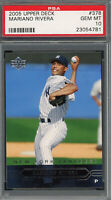 Mariano Rivera New York Yankees 2005 Upper Deck Baseball Card #378 PSA 10