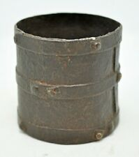 Antique Iron Small Grain Measuring Pot Paili Origin Old Hand Crafted Metal