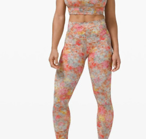 Lululemon Align Size 4 High-Rise Leggings Pant Floral Inflorescence IFLO New