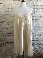 NWT Womens Cacique Sexy Sensual Beige Polyester Night Dress Size 22/24