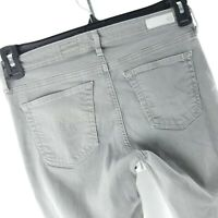 Ag Adriano Goldschmied Womens Jeans Size 27 Gray Stevie Slim Straight Ankle Zip