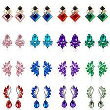 Fashion Elegant Crystal Rhinestone Ear Stud Dangle Drop Earrings Women Jewelry