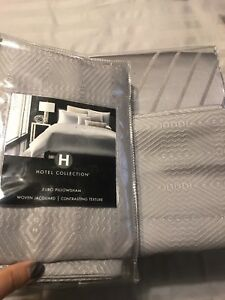 New!Hotel Collection Keystone KING Duvet Cover, 2Euro,1Quilt Shams & Dec. Pillow