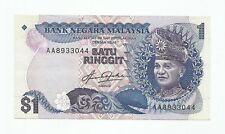 "MALAYSIA  RM1 Blindman 5th Series TDLR First Prefix AA_8933044  ""EF"""