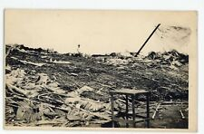 RPPC Storm Wreckage Tornado? Unidentified Vintage Real Photo Postcard