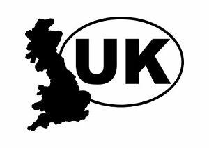 UK Car Sticker, Van, Caravan, Truck, Boat. Silver or Gold Chrome or 18 Colours