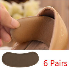 6 Pairs Extra Sticky Sponge Shoe Heel Inserts Insoles Pads Cushion Grips Strong