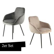 Stuhl Samt Grau Beige Taupe Beine Schwarz Wohnzimmer Stühle Esszimmer Modern