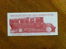 1920s White Star Tourist Services leaflet - Auckland motor tours