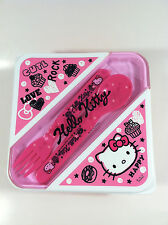 Sanrio Hello Kitty Pink Sweet Kitty Lunch Container BPA Free with Spoon and Fork