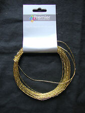 metallic Twist Tie cord wire for cello bags parcels arts crafts Red Silver Gold