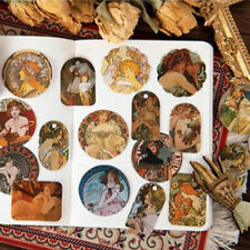 Art Nouveau Alphonse Mucha Themed Stickers - 46 Piece Lot