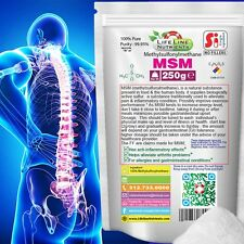 250g (8.8 oz) PURE MSM (METHYLSULFONYLMETHANE)  - Joint & Pain Relief (P)