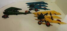 VTG Set of 3 HOMCO METAL PAINTED BI PLANES AIRPLANES WALL HANGINGS PLAQUES 1975