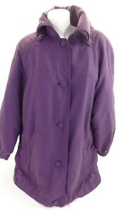 NORM THOMPSON WOMENS PURPLE POLYESTER INSULATED CASUAL JACKET SIZE S