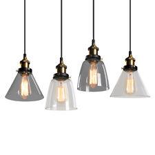 Vintage Hanging Pendant Light Fixture Industrial Loft  Glass Ceiling Lamp
