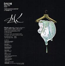 1970 Vintage Salvador Dali Melting Clock Art Daum Sculpture Editeur Print AD