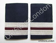 Epaulette,2 x 1/2 Silver with 1 x1/4inch Maroon engineer R983