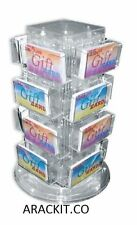 For Sale Counter Gift Card or Business Card Display Rack -16 Pocket (Clear)