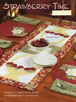 Strawberry Time Quilt Pattern Pieced/Applique PK