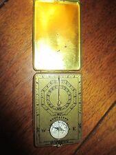 1920 Ansonia Clock Co. Sunwatch; pocket sundial/compass in brass; unusual piece